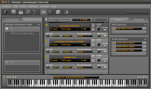 LinuxSampler with multiple instruments