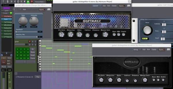 The new Guitarix LV2 plugins, alongside some old favourites