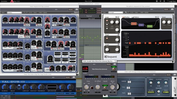 Loomer Aspect and Sequent earned their keep, alongside open-source plugins like Invada Tube and the TAL and Calf delays
