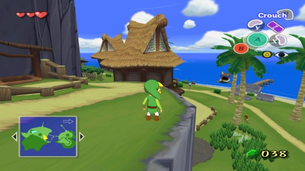At 1080p, and with the widescreen hack in effect, The Wind Waker could almost pass for a current-generation game